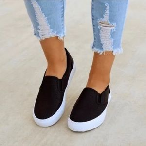 Shoes - New Black slip on